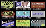 California Games Commodore 64 Setting up the players