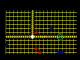TRON: Solar Sailer Intellivision Tanks at beam jump point - power very low min grid buts Get Off, Get Off! (Alan shouts)
