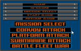 Battle Stations DOS Main Menu and Mission selection (VGA)