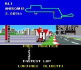 F1 Triple Battle Genesis Ran off course