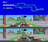 F1 Triple Battle Genesis Racing against computer opponents