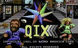 QIX Commodore 64 Title screen
