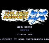 Task Force Harrier EX Genesis Title screen.