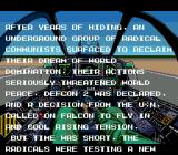 Task Force Harrier EX Genesis Story intro. Those rascally communists!