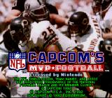 Capcom's MVP Football SNES Title screen
