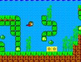 Alex Kidd in Miracle World SEGA Master System Alex Kidd can also swim.