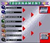 Capcom's MVP Football SNES Tournament bracket