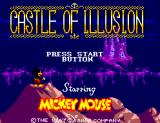 Castle of Illusion starring Mickey Mouse SEGA Master System Title screen.