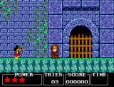 Castle of Illusion starring Mickey Mouse SEGA Master System Mickey entering the castle of illusion.