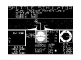 Shuttle Simulator TRS-80 CoCo Using arm to fetch satellite