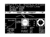 Shuttle Simulator TRS-80 CoCo Almost back to center on runway...leveling off