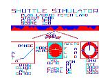 Shuttle Simulator TRS-80 CoCo Crash! Sorry chief, miss it by that much!