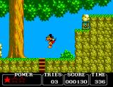 Castle of Illusion starring Mickey Mouse SEGA Master System The forest in this version is clearer than the Sega Genesis one.