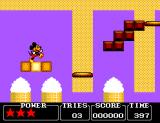Castle of Illusion starring Mickey Mouse SEGA Master System Mickey smiles while he walks.