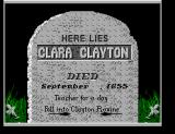 Back to the Future Part III SEGA Master System RIP Clara