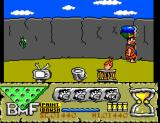 The Flintstones SEGA Master System The brush is the green flying animal.