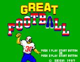 Great Football SEGA Master System Title
