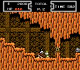 Disney's DuckTales NES Scrooge in the African mines. Backgrounds are very detailed for a NES game.
