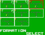 Great Football SEGA Master System Formation Select