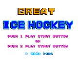 Great Ice Hockey SEGA Master System Title