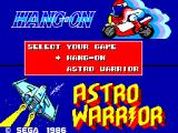 Hang-On & Astro Warrior SEGA Master System Game Select