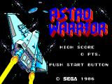 Hang-On & Astro Warrior SEGA Master System Astro Warrior Title