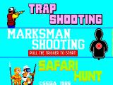 Marksman Shooting / Trap Shooting / Safari Hunt SEGA Master System Title