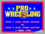 Pro Wrestling SEGA Master System A rage-fueled fist exploding through the title screen!