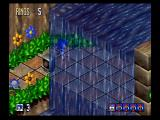 Sonic 3D Blast SEGA Saturn The waterfall doesn't look so good wiithout transparency.