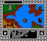 Disney's DuckTales 2 NES A map.