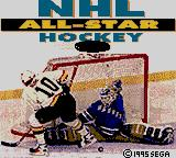 NHL All-Star Hockey Game Gear Title screen