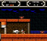 Disney's DuckTales 2 NES Scrooge pulling the cannon.