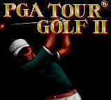 PGA Tour Golf II Game Gear Title