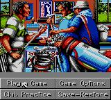 PGA Tour Golf II Game Gear Menu