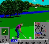 PGA Tour Golf II Game Gear Getting Ready to Drive