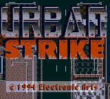Urban Strike Game Gear Title