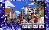 Mirage 2 PC-98 Beautiful town center. Typical menu