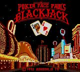 Poker Face Paul's Blackjack Game Gear Title screen