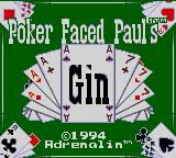 Poker Face Paul's Gin Game Gear Title screen