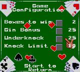 Poker Face Paul's Gin Game Gear Game configuration