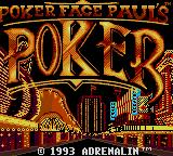 Poker Face Paul's Poker Game Gear Title screen