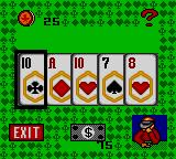 Poker Face Paul's Poker Game Gear Video Poker in progress