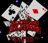 Poker Face Paul's Solitaire Game Gear Title screen