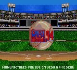 R.B.I. Baseball '94 Game Gear Title screen