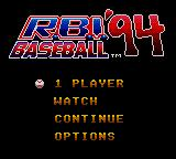 R.B.I. Baseball '94 Game Gear Main menu