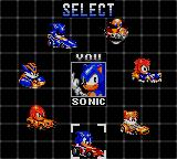 Sonic Drift 2 Game Gear Driver selection