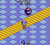Sonic Labyrinth Game Gear Gameplay in progress