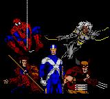 Spider-Man X-Men: Arcade's Revenge Game Gear Opening Screen