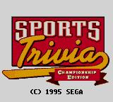 Sports Trivia: Championship Edition Game Gear Title screen