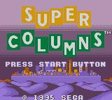 Super Columns Game Gear Title screen